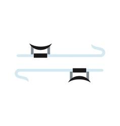 Ninja weapon flat icon vector