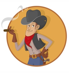 Old west gunslinger vector