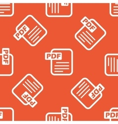 Orange PDF file pattern vector image