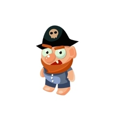 Pirate toy icon vector