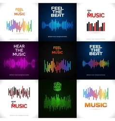 Set of different equalizer icons vector image vector image