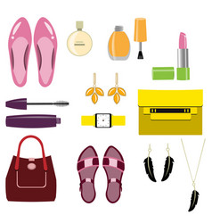 set of stylish women accessories vector image vector image