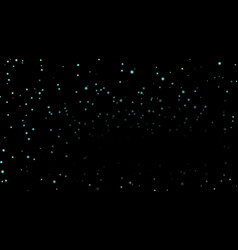 Stars on black night background vector