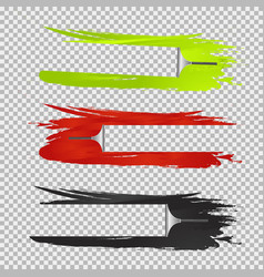 Three squeegees window cleaning effects vector