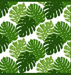 tropical leaves seamless pattern hand vector image vector image