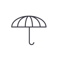 umbrella line icon sign on vector image
