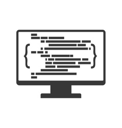 Website computer code technology internet icon vector