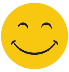 Yellow laughing happy smile vector