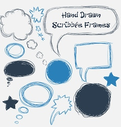 Set of scribble speech bubbles on a white vector