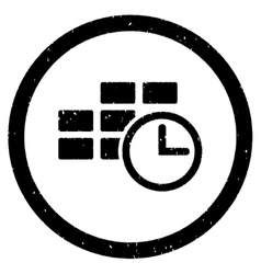 Time table rounded grainy icon vector