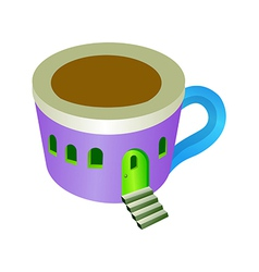 A view of cup vector image