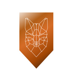 fox polygonal head sign vector image