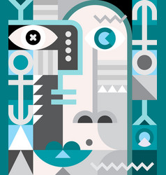 abstract portrait vector image