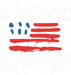 Grunge hand drawn usa flag american abstract vector