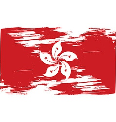 Flag of hong kong with old texture vector