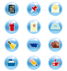 Stationary icon vector