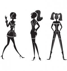 fashion girls26 vector image