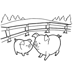 pig cartoon coloring pages vector image