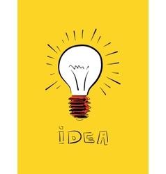 Doodle idea icon vector