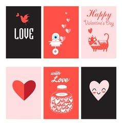 Love is a collection cards vector
