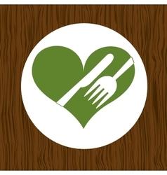 healthy food menu design vector image