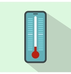 Thermometer for outdoor icon flat style vector