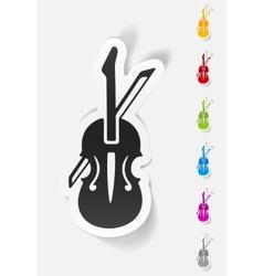 Realistic design element violin vector