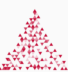 Abstract triangle red background vector