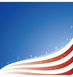 background USA flag with light and stars vector image