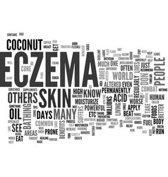 Beat your eczema skin disease now text word cloud vector