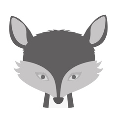 Cartoon fox icon vector