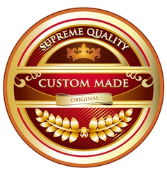 Custom made original label vector