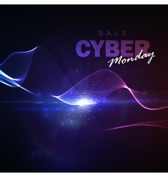 Cyber monday sale flyer design template vector