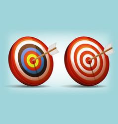 dart target with arrow vector image