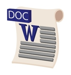 Doc icon cartoon style vector