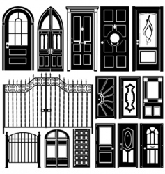 door design vector image vector image