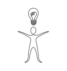 figure person that have a good idea icon vector image
