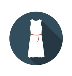 Flat design concept white dress with long sh vector