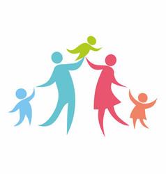 happy christian family vector image