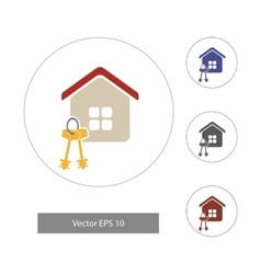 In flat style home icons vector