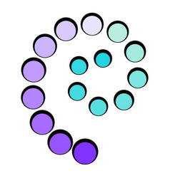 loading process circular icon cartoon vector image vector image