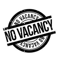 No vacancy rubber stamp vector