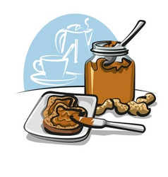 peanut butter sandwich vector image