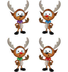 Reindeer character saying stop vector