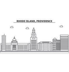 rhode island providence architecture line skyline vector image