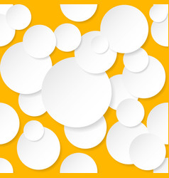 Seamless texture circles for design on orange vector