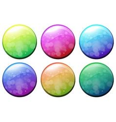 Six colorful circles vector image vector image