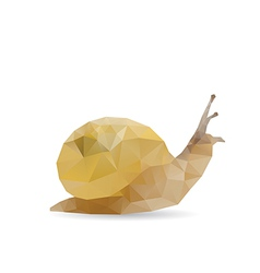 Snail abstract vector image vector image