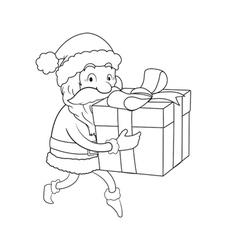Sneaky Santa Line Art vector image vector image