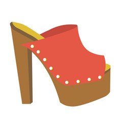 stylish mule with heavy platform and high heel vector image vector image